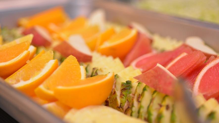 *朝食バイキング/朝フルーツには良い効果が得られると云われています。沢山食べて朝からヘルシーに!