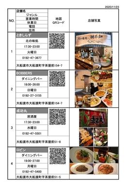 【巡るたび、出会う旅。東北】夕食は大船渡市内のお好きな飲食店で♪《食事券3000円分付・朝食付》
