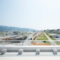 *【施設/屋上】屋上からは復興が進む大船渡の町並みをご覧いただけます。
