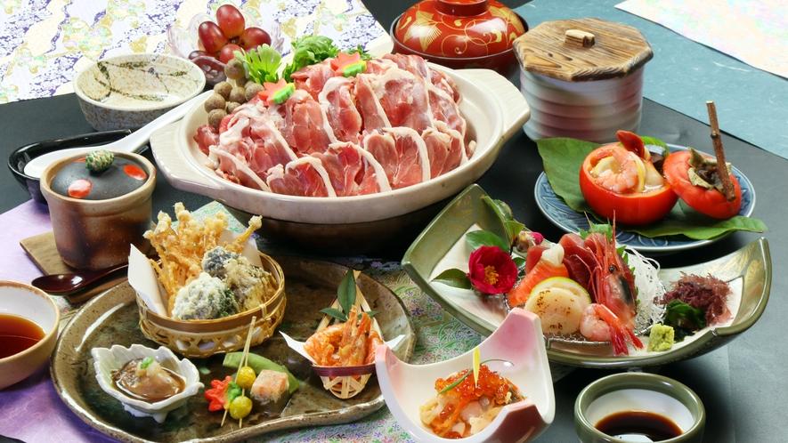 ◆平日限定プラン!オリジナルヘルシー会席♪鴨のみそ鍋などをご用意します。