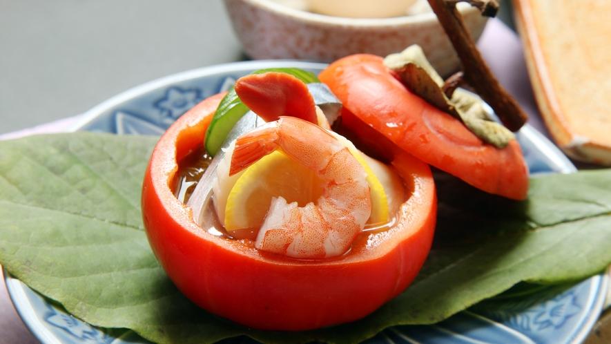 ◆先付け 一例 彩り鮮やかで見た目にもこだわったお料理をご提供いたします。