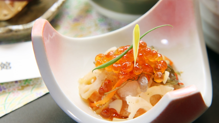 ◆ご夕食一例。一品一品真心こめてお作りします。