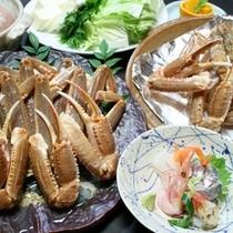 陶板焼きガニ付蟹しゃぶプラン