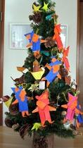 折り紙のぐりぐらツリー