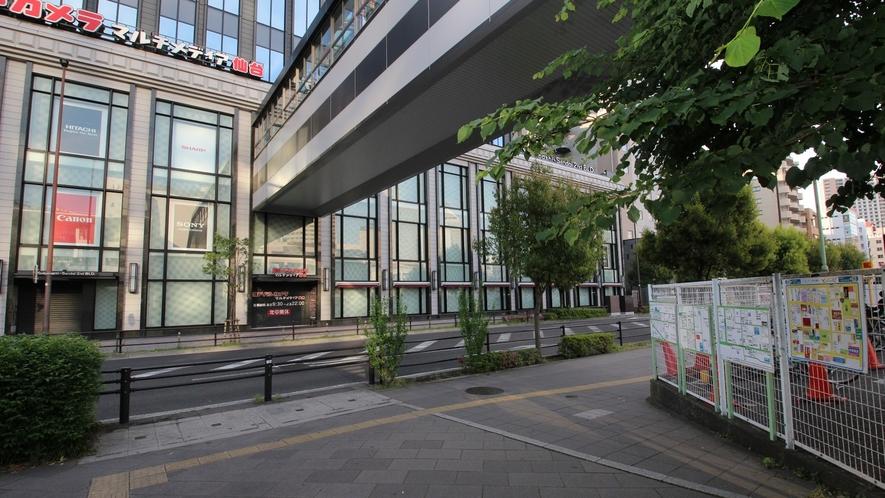 【アクセス】ヨドバシカメラさんの前の道路を右折します