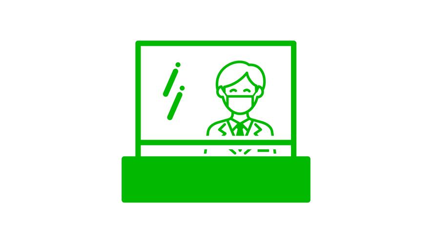 【感染症対策】フロントの飛沫防止アクリル板