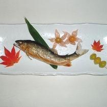 *【夕食一例】伊南川鮎