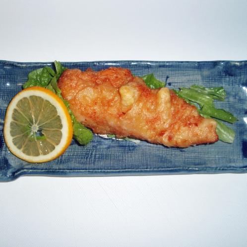 *【夕食一例】会津地鶏ささみ天