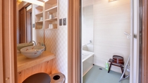*VIPルーム(客室一例)/掃除が行き届いたバスルームと洗面処