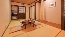 *深山館(新館客室一例)/やさしい色調の和の趣を大切にしたお部屋。足を伸ばしてゆったりとお寛ぎ下さい