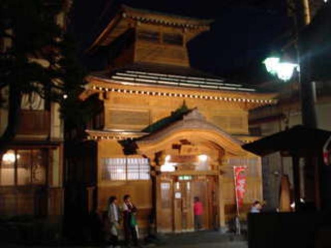 野沢温泉の代表的な外湯「大湯」