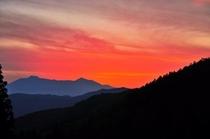 北信五岳の夕焼け