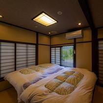 【母屋:繭の間】和風モダンな寝室。
