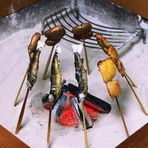 【夕食一例】 ※内容は季節により変わります。