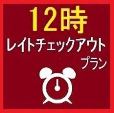 ★朝はゆっくり★ 12時レイトチェックアウトプラン【素泊り】