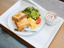 ■2017年10月リニューアル■ 新朝食メニューの日替わりパン!選べるドリンク付き