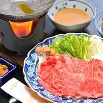 【ご夕食料理一例「尾花沢牛しゃぶしゃぶ」】
