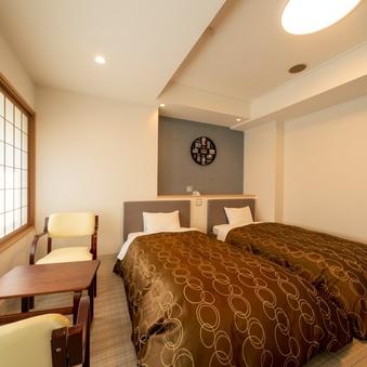 ★快適ベッドで快眠★城跡側 ツインルーム(禁煙)
