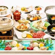 冬の期間限定、基本のお料理イメージです♪