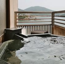 ■コーナービューツイン客室(露天風呂)■