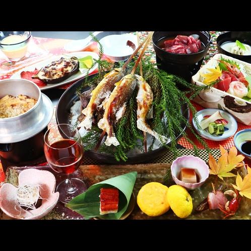 お夕食一例~旬の味覚を使った四季折々のお料理をお楽しみください~