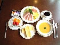 御朝食例 洋定食(1600円)