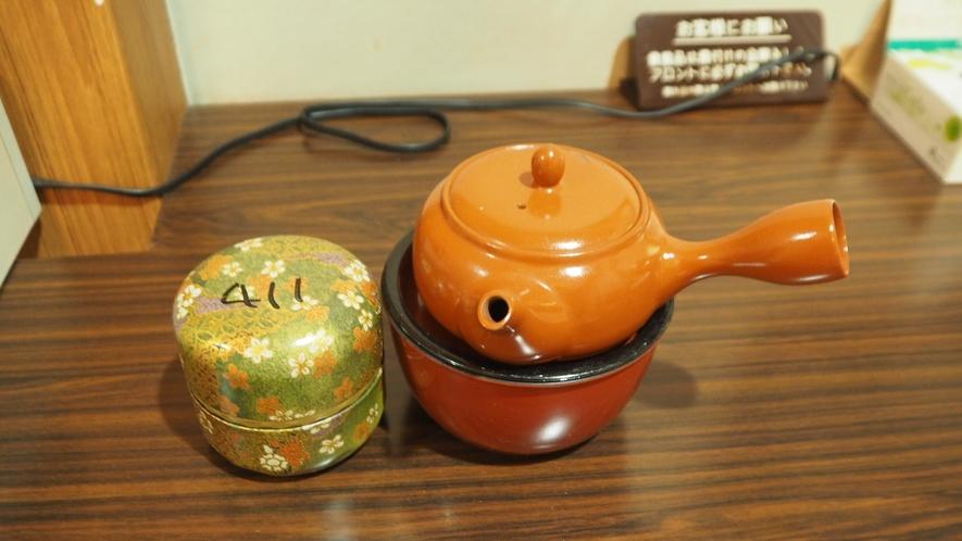 *部屋設備/お部屋にはお茶とちょっとしたお茶うけをご用意