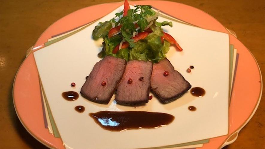 *食事一例/ローストビーフ