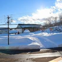 *赤倉観光スキー場ゴンドラ乗り場は目の前です。