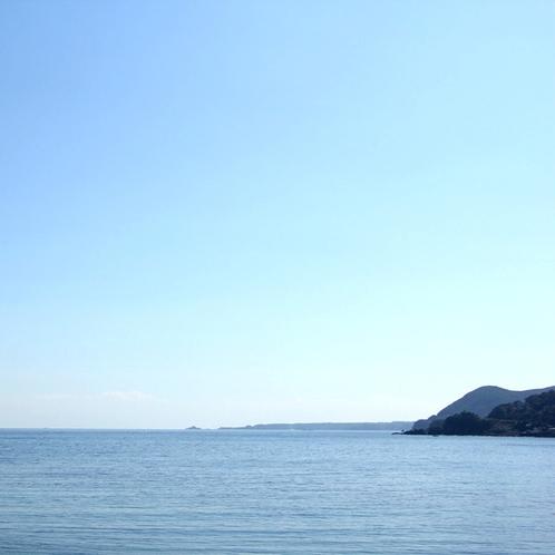 お部屋から見た景色です♪キレイな水平線が見られます♪