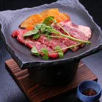 夏のスタミナ!牛ステーキと野菜