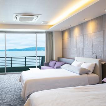 海が見える半露天風呂(温泉)付和洋室☆newオープン
