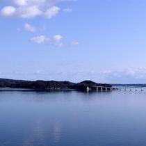 お部屋からの七尾湾の雄大な海の景色一例