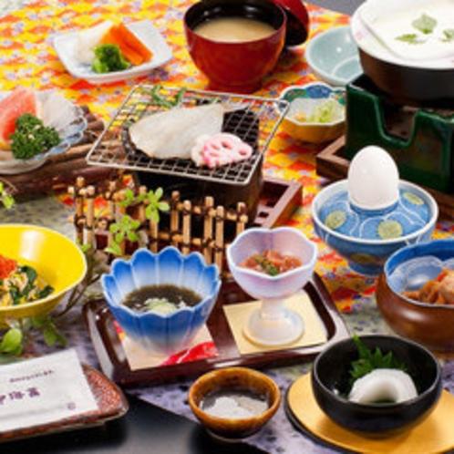 朝食の一例(お部屋食)