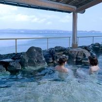 七尾湾を一望!海の景色を満喫の露天風呂
