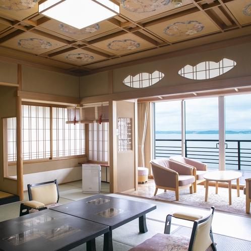 白鷺亭8F特別室「万葉の間」 客室一例