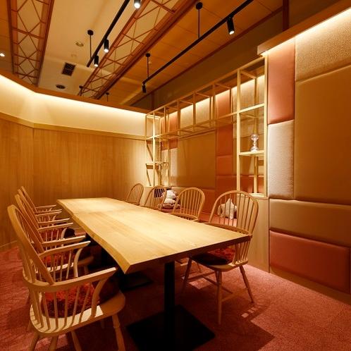 デザイナーズルームで過ごす寛ぎの食空間~個室ダイニング「彩」 写真は「和菓子」