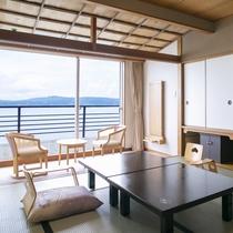 全室オーシャンビュー(海側)白鷺亭客室一例