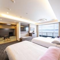 半露天風呂付和洋室 客室一例