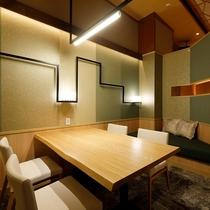 デザイナーズルームで過ごす寛ぎの食空間~個室ダイニング「彩」 写真は「でか山」