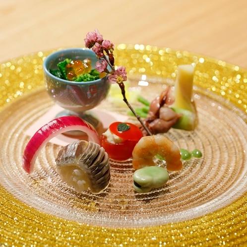 デザイナーズルームで過ごす寛ぎの食空間~個室ダイニング「彩」 料理一例