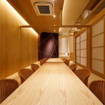 デザイナーズルームで過ごす寛ぎの食空間~個室ダイニング「彩」 写真は「手毬」