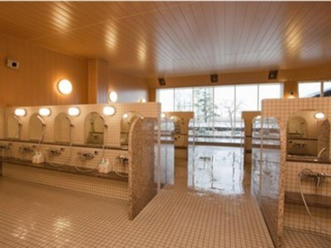 温泉洗い場
