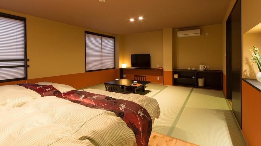 【山側和洋室】16畳 セミダブルベッド2台 檜風呂洗浄トイレ 禁煙ルーム