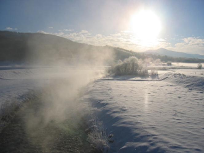 猿ケ石川の川霧