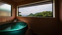 【紫陽花】信楽焼きの露天風呂になってます