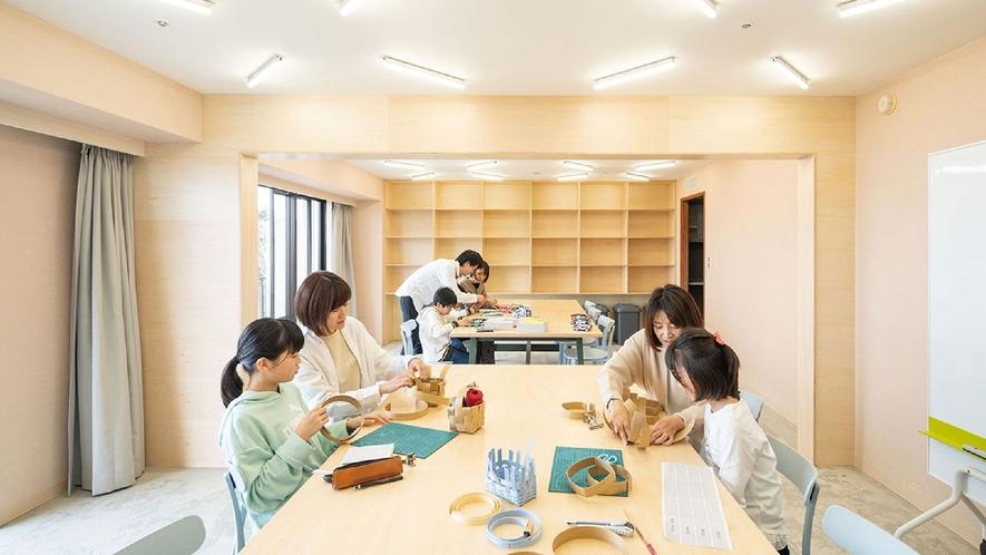 ☆【館内施設】クラフトルーム/ものづくりのためのラウンジがオープン!