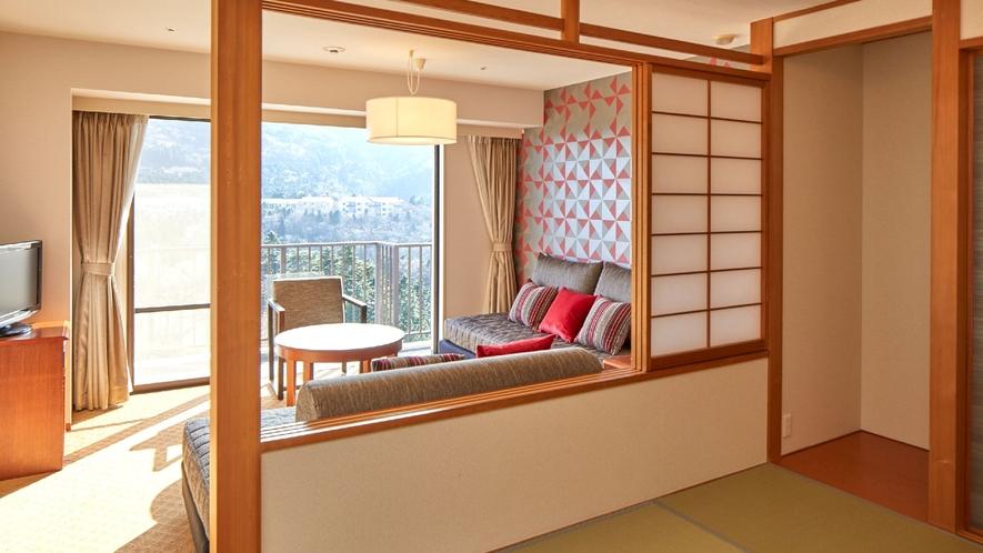 ☆【客室】和洋室 富士山や天城山系の壮大な眺望が広がる和洋室(一例)