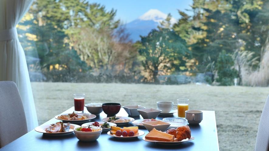 ☆【ご朝食】富士山を眺望しながらブッフェをお愉しみください。