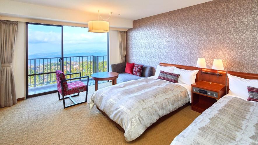 ☆【客室】洋室 富士山や天城山系の壮大な眺望が広がる洋室(一例)